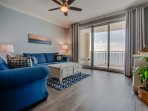 Twin Palms 2104-Living Area with View of Gulf