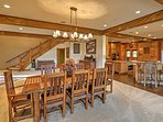 This rustic, elegant dining area is ideal for sharing a meal with your friends and family.