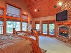 The Cascade  Suite is the ultimate sleeping chamber featuring a flat-screen cable TV, a gas fireplace,  private deck...