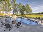 Sit around and lounge by the pool and soak in the panoramic views of the mountain scenery!