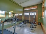 Stay on track with your fitness by taking advantage of the home gym !