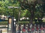 Bike rentals on corner