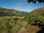 View down to Ullswater from garden
