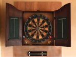 Darts in the games room.