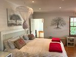 King size extra length bed with Egyptian cotton and down linen