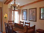 3 dining options – kitchen island, beautifully appointed dining table plus outdoor patio