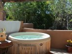 Private hot tub on 2nd floor deck