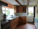 The country style kitchen with stable door.