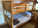 Bunk beds for the kids - no fighting for the top bunk!
