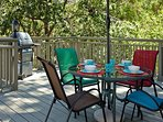 Outdoor dining for four and bbq