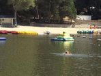 Lake Gregory: Swimming & Inflatable water park
