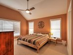 Rest and recuperate in the spacious master bedroom.