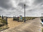 The sandy beach and boardwalk are only a short walk away!