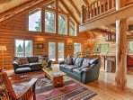 Find peace and tranquility in the mountains of California when you stay at this log cabin-style 4-bedroom, 3-bath...