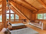 Curl up with a good book on the couch in the loft area which also provides 2 twin-sized beds for additional sleeping.