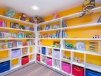 The Kid's Club has plenty of books and toys for the little ones.