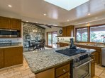 Cooking for groups is a pleasure with all this counter space.