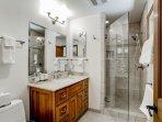 Private bathroom adjacent to Master bedroom #4 has walk-in shower.
