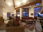 The high vaulted ceilings make it easy to relax and breathe easy.