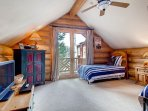 There's a flatscreen TV in the loft bedroom, as well as access to a small deck.