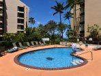 Enjoy cooling off at the resort pool