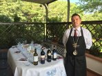 wine tasting with Sommelier