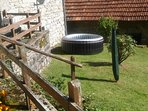 There's a private Jacuzzi in the garden over the summer, for the sole use of the cottage's guests