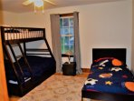 Kids Bunkroom - Sleeps 4 (bottom bunk is double bed). Equipped with a flatscreen TV,  Cable, WIFI