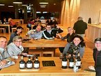 Our guests enjoying wine tasting at local winery
