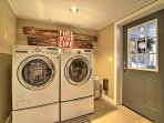 The home's laundry machines are ideal whenever you want to freshen up your belongings.