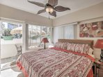 This bright sleeping sanctuary boasts a plush king bed for an optimal night's sleep!