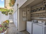 Keep your wardrobe clean by taking advantage of this on-site laundry room.
