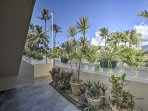 The lush foliage that surrounds this vacation rental creates a coastal vibe that reduces stress upon arrival.