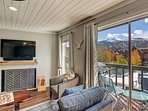 Take in the views on the cozy deck