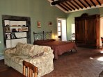 The studio apartment in the monastery - there is also a kitchen in a cupboard!