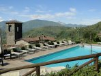Just relax around your pool, above the monastery, with mountain views!