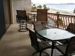 High top patio furniture to view over the railing to enjoy the views of the Sea of Cortez