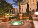 Wyndham Grand Desert outdoor hot tub