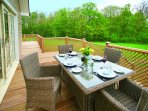 Al fresco dining with great views