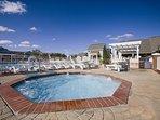 Wyndham Kingsgate outdoor hot tub