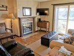 Leather Couch, Recliner, HDTV, DVD Player
