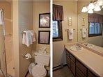 Master bathroom with large vanity