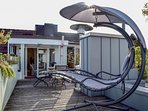 No better place to relax in the sun or do a barbeque as on the rooftop