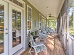 Take a load off on the porch as you appreciate the home's serene surroundings.