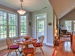 Gather your loved ones around this 4-person dining table to enjoy a home-cooked meal.