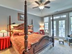 This luxurious master bedroom is the perfect place to enjoy revitalizing nights of sleep.