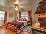You'll look forward to resting in this plush queen-sized bed after active days in the city.