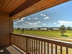 Enjoy breathtaking views from the private, upper-deck balcony at this updated Pagosa Springs vacation rental duplex.