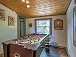 Challenge a companion in Foosball.