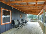 Enjoy your morning coffee on the covered deck.